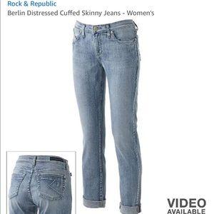 Rock & Republic Berlin Distressed skinny jean